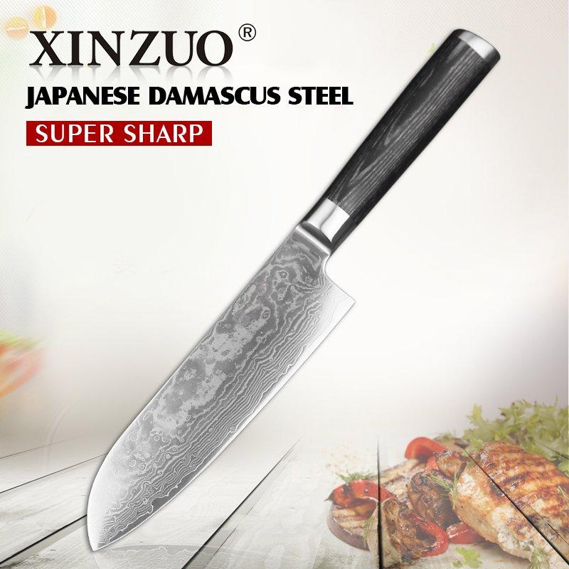Нож Xinzuoиз дамасской стали