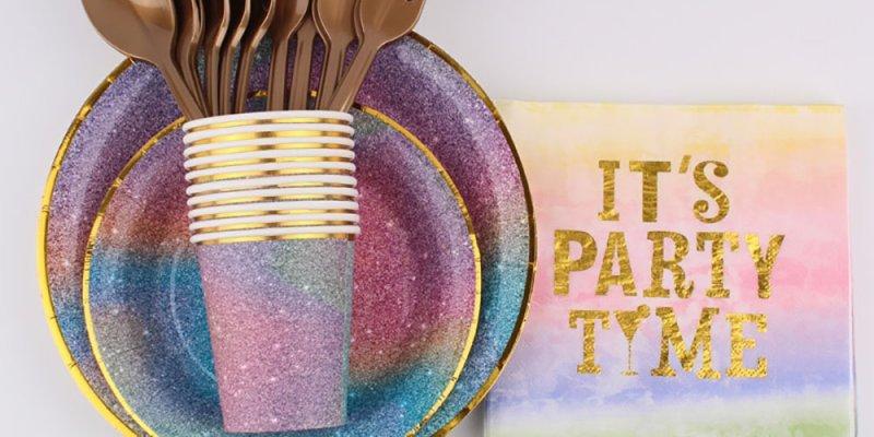 ТОП-5 красивых наборов одноразовой посуды с ALIEXPRESS