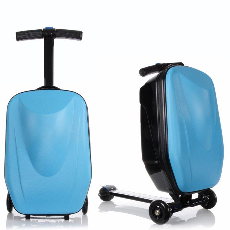 Стильный чемодан-самокатLetrend