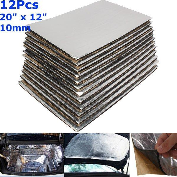 Маты для шумоизоляции капота авто Auzan (12 шт, 10 мм)