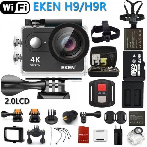 Экшн-камера с пультом ду Eken H9 / H9R Ultra HD, 4K WiFi