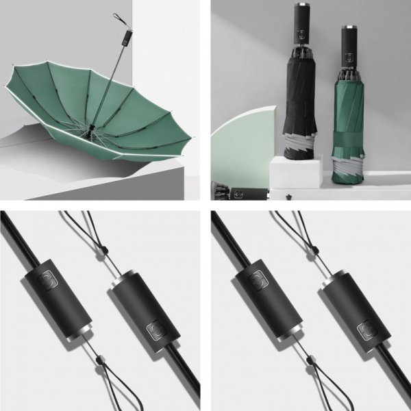 Автоматический складной обратный зонт (5 цветов)