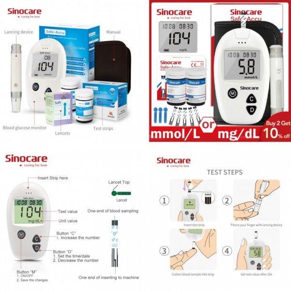 Глюкометр Sinocare Safe-Accu