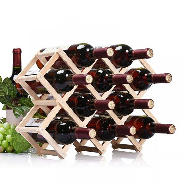 Складная полка для бутылок с вином и шампанским (на 3, 6, 10 бутылок)