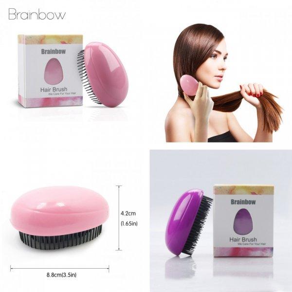 Хит! Расческа для волос Brainbow не спутает волосы (8.8*4.2 см, 3 цвета)
