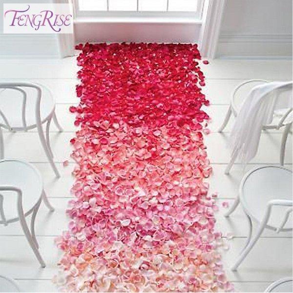 Лепестки из роз Fengrise  (500 шт, шелк, 24 цвета)