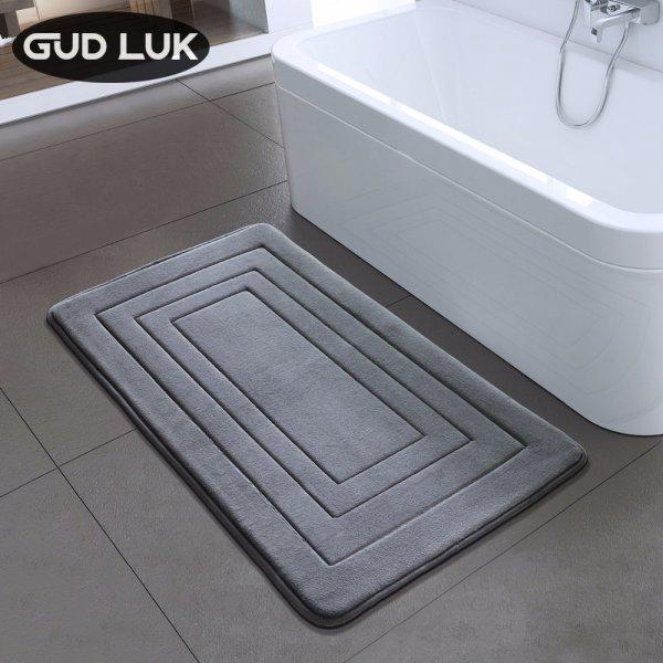 Коврик для ванной GUDLUK из вельвета подарит радость ножкам (4 цвета, 40*60 см, 50*80 см)