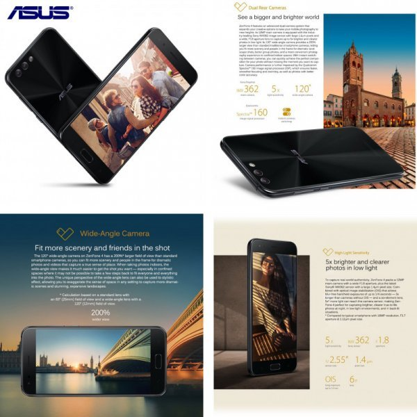 Смартфон Asus Zenfone 4 5,5 '' (Android 7.1., 3 камеры, Octa core Dual Sim 12.1MP 0