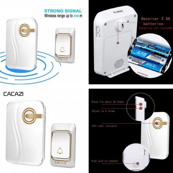 Беспроводной звонок на дверь CACAZI