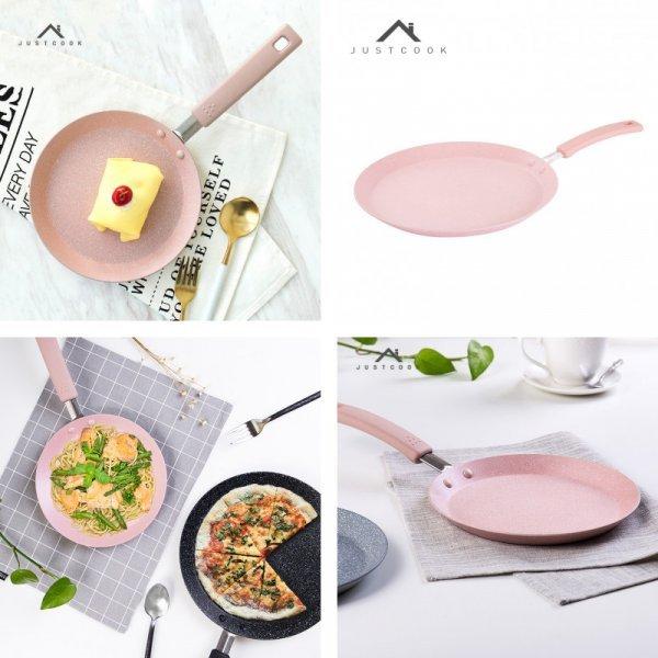 Небольшая сковородка для тонких блинчиков и яичницы Justcook (3 цвета, 20 см, 24, 28 см)