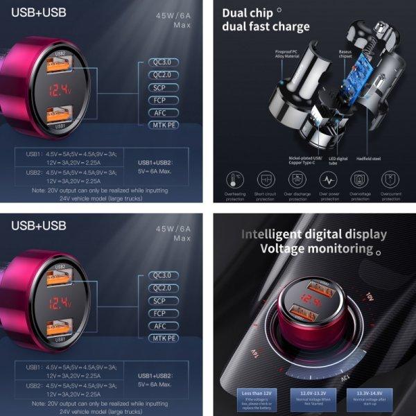 Автомобильное зарядное устройство Baseus