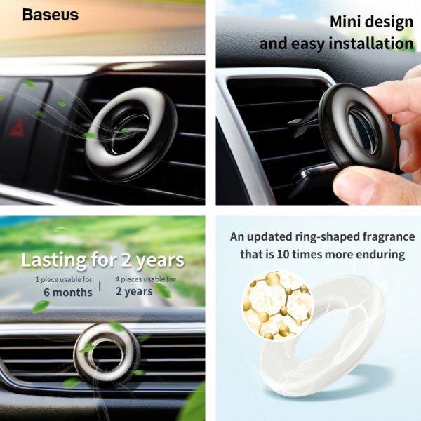Необычный ароматизатор на воздуховод авто Baseus (4 цвета)