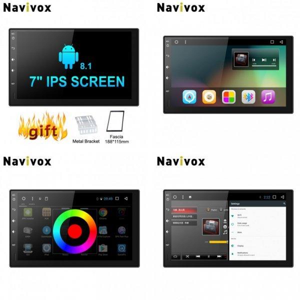 """Универсальная магнитола для авто Navivox 7"""" (Android7.1, 2 Din )"""