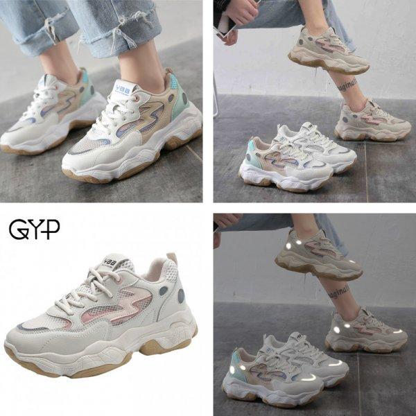 Шикарные женские кроссовки GYP на массивной подошве