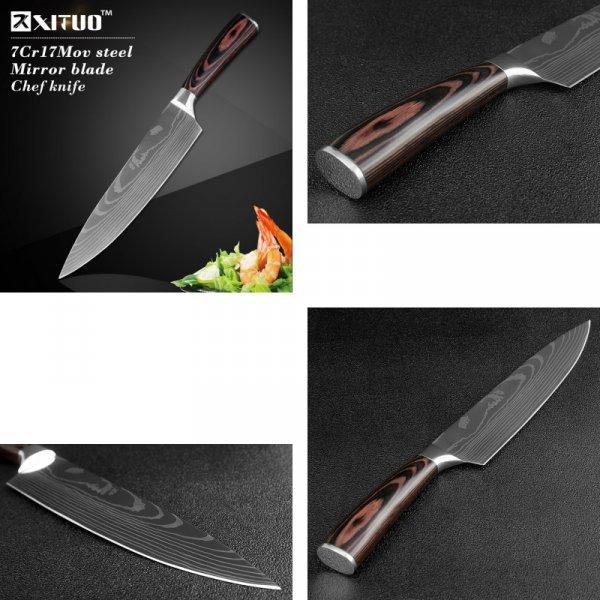 Острый нож на кухню XITUO (7 видов)