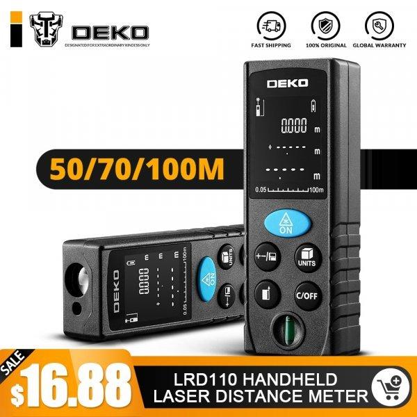 Электронная рулетка дальномер DEKO LRD110 (50-100 м)