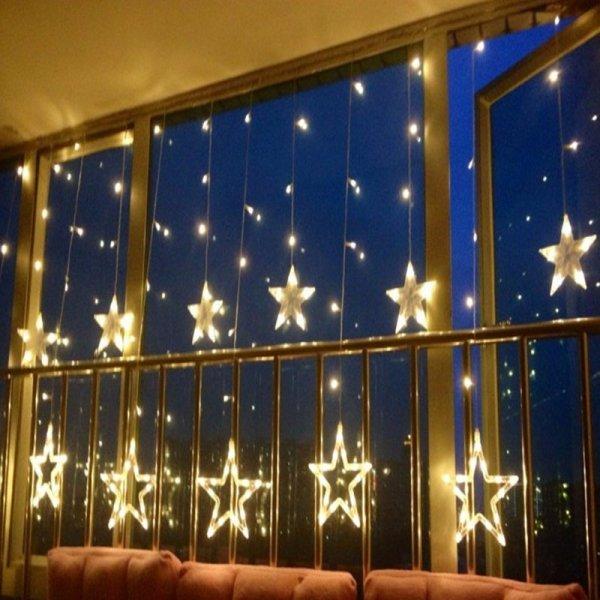Светящаяся гирлянда Звезды  6 Вт (138 звезд)