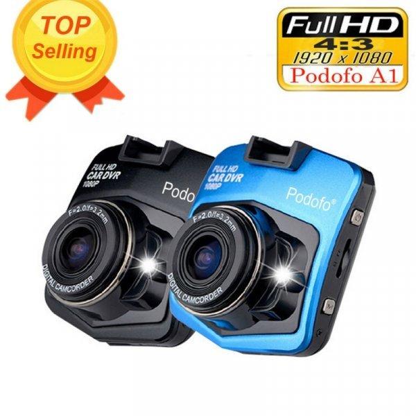 Видеорегистратор для автомобиля Podofo A1 mini (2 цвета, Full HD 1080 P 140 градусов)