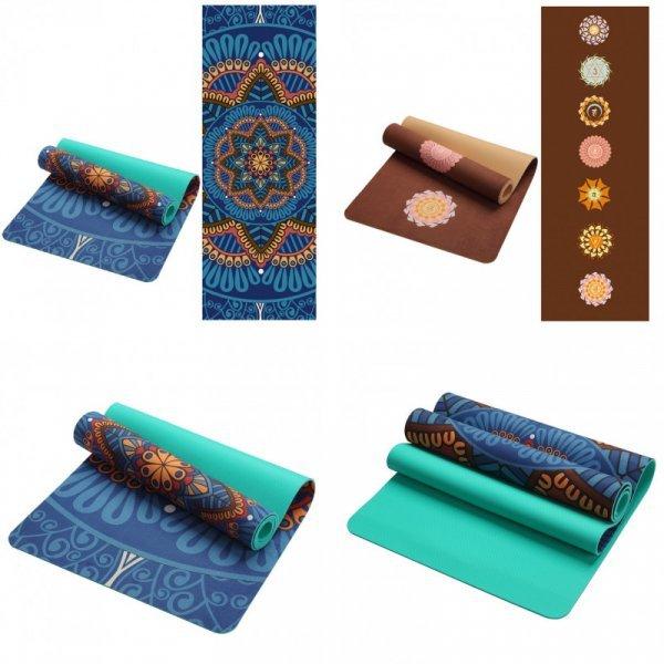 Нескользящий коврик для йоги Lotus (5 мм, 4 принта)