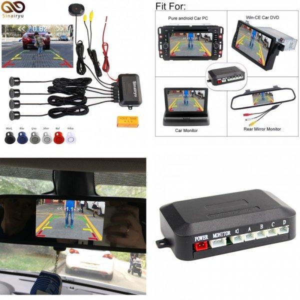 Парктроник для авто с ЖК-дисплеем Sinairyu (6 цветов датчиков)