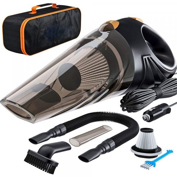 Мощный пылесос в машину Haifei (сумка+аксессуары)