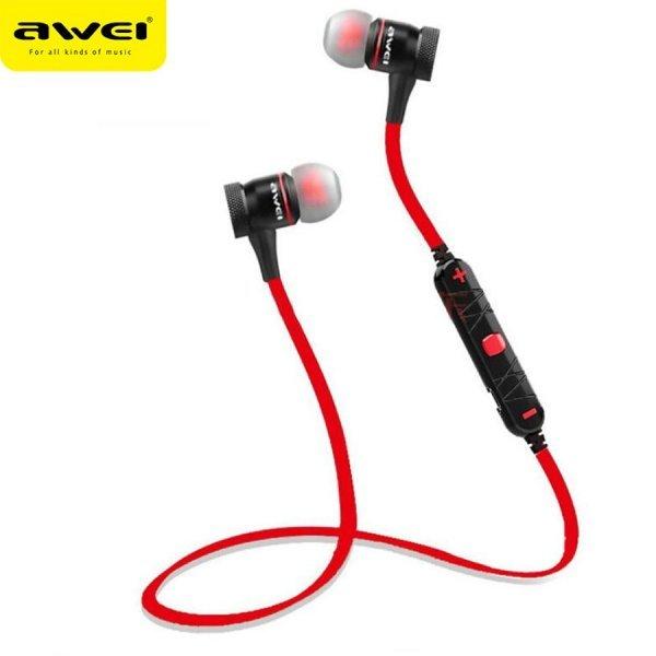 Отличные наушники для пробежки AWEI a920bl с микрофоном (3 цвета)
