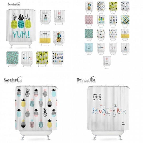 Чумовые по дизайну шторки для ванной Sweetenlife (17 принтов, 180*180 см, 150*180 см, 180*200 см)