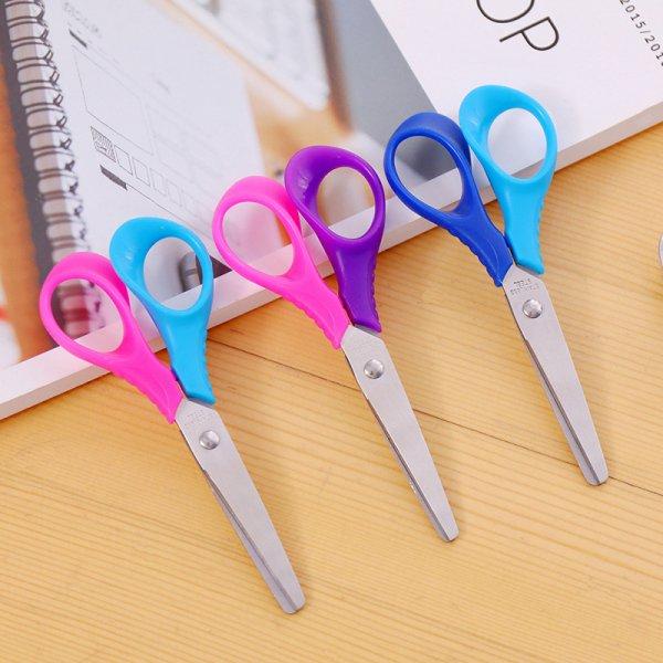 Безопасные ножницы для детей (13*5.6 см, 3 цвета)