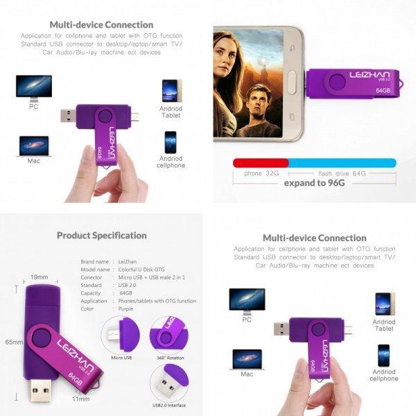 USB флешка (5 цветов)