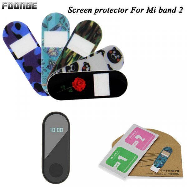 Защитная пленка для фитнес-браслетов Foonbe (для Mi band 2, 12 цветов)