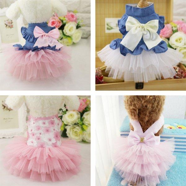 Роскошное платьице для питомца (6 цветов, 6 размеров)
