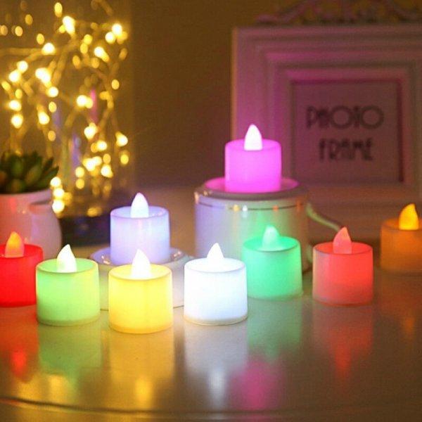 Свеча на батарейках (6 цветов)