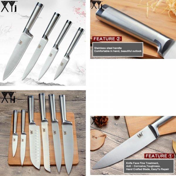 Набор кухонных ножей для хлеба и овощей XYj (8 видов)