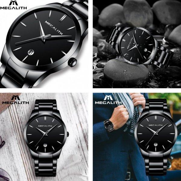 Мужские кварцевые часы MEGALITH (4 дизайна)