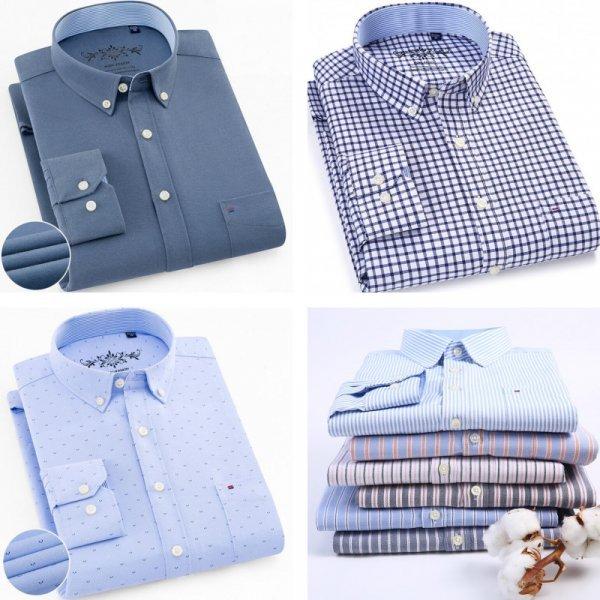 Стильная рубашка для мужчин QISHA (26 цветов, 9 размеров)