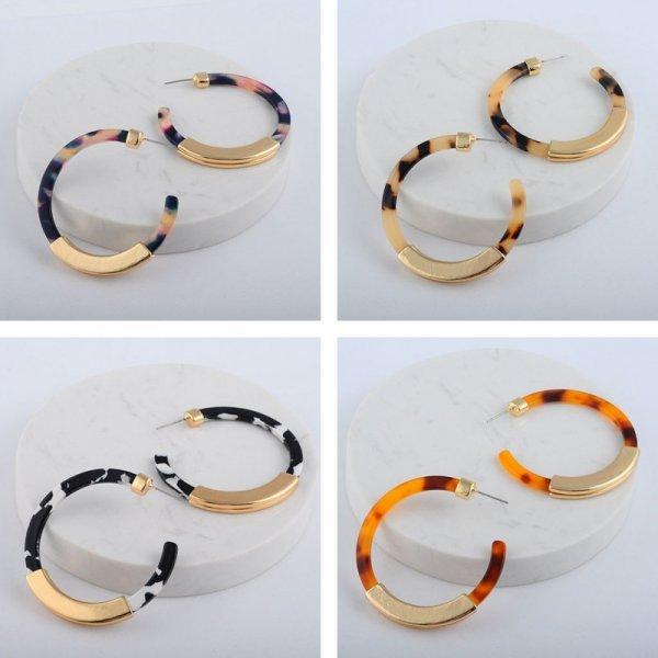 Великолепные серьги-кольца Onekiss (12 цветов)