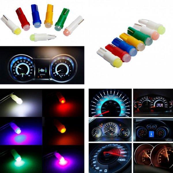 Светодиодная подсветка приборной панели от SABAOLIGHT (20 шт, 7 цветов)
