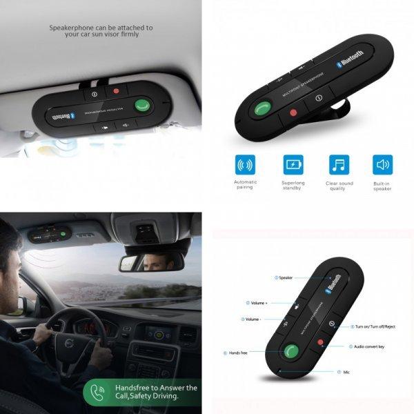 Подвесной Bluetooth-приемник для авто Kiomic (MP3, с клипом)