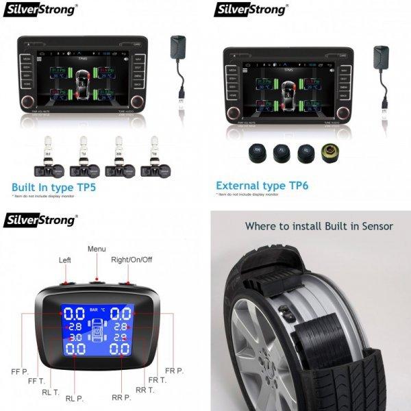 Монитор давления в шинах с датчиками SilverStrong