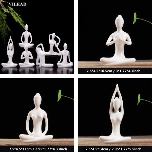 Керамическая Статуэтка Йог украсит рабочий стол (12 поз на выбор, 7,5*4,5*10,5 см)