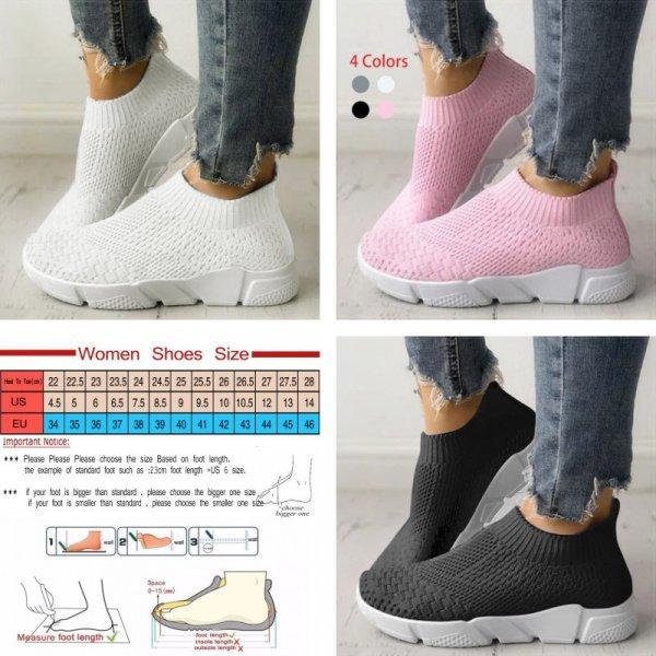 Дышащие кроссовки для женщин (4 цвета, 9 размеров)