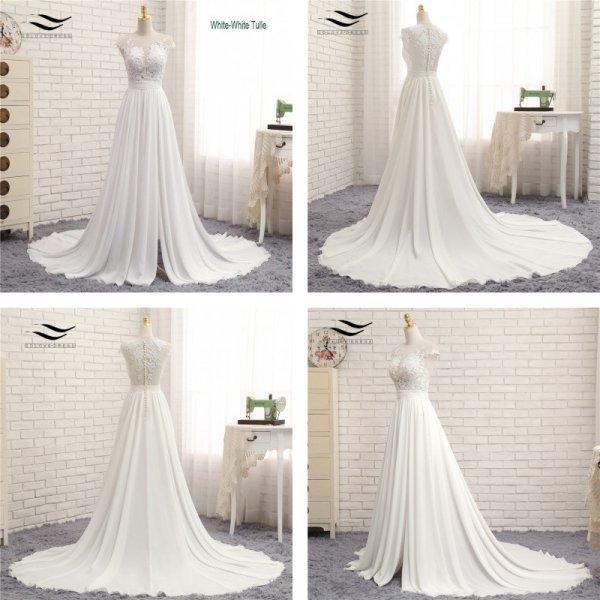 Невероятное свадебное платье SOLOVEDRESS с кружевом (6 цветов, индивид.пошив)
