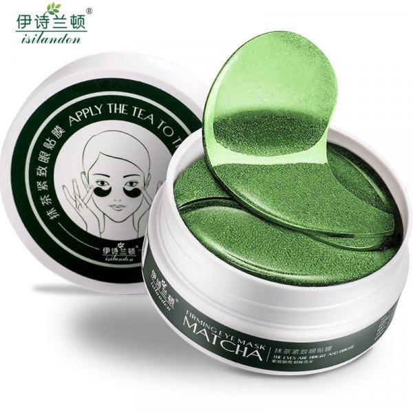 Патчи для глаз ISILANDON  с зеленым чаем от темных кругов (60 шт)