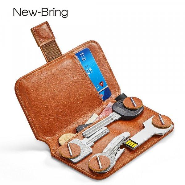 Кожаное портмоне-ключница New-Bring (3 цвета)