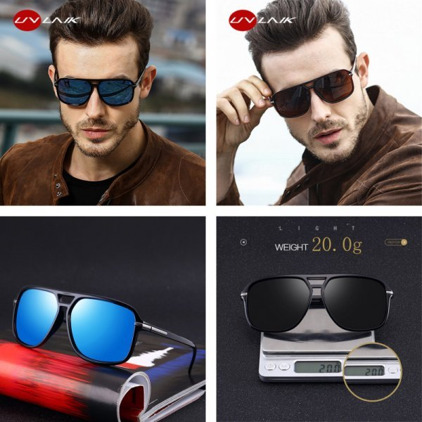 Мужские солнцезащитные очки UVLAIK (UV400, 6 цветов)