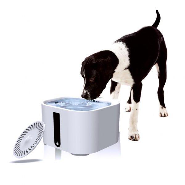 Шикарный питьевой фонтан для некрупных собак TAONMEISU 2 л (12В, 12.3*19.5*19.5 см)