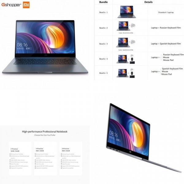 Лучший ноутбук Xiaomi Pro Intel Core i7 (16 г ОЗУ 256 ГБ ssd Windows 10 1920x1080)