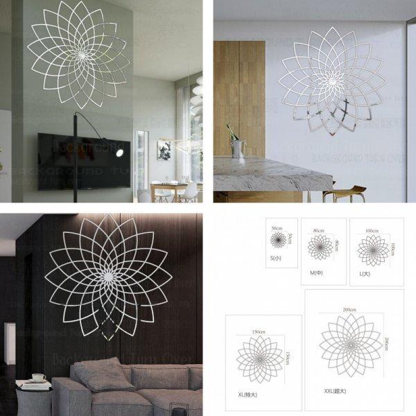 Зеркальные наклейки BACKGROUNDTURNOVER (11 цветов, 5 размеров)