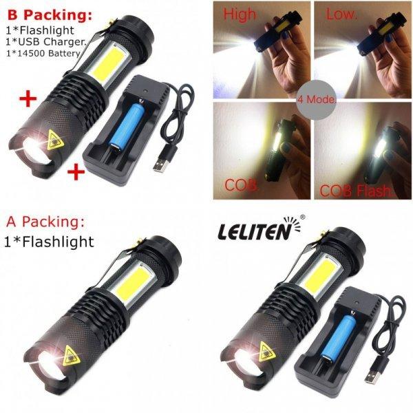 Яркий светодиодный фонарик LELITEN