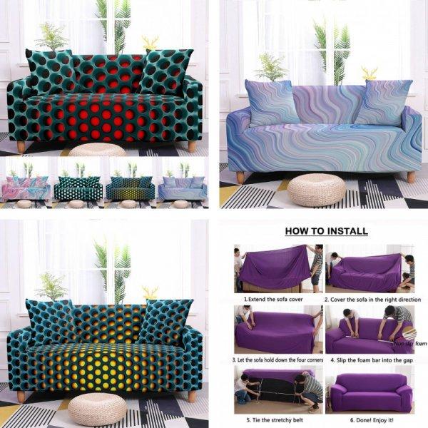3D Чехол на диван (10 цветов, 5 размеров)